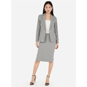 Express Gray Business Casual Pencil Skirt